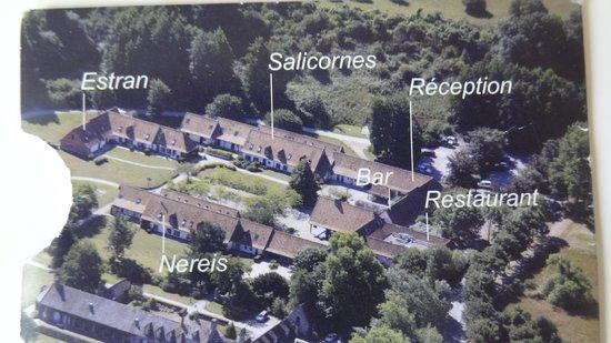 Hotel Restaurant du Cap Hornu : Hotel layout
