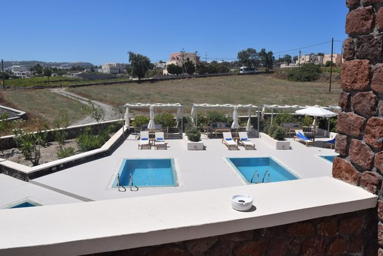 Astro Palace Hotel and Suites: view from rooms balcony of private pool