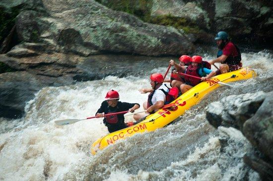 South Carolina: Raft over Bull Sluice Falls