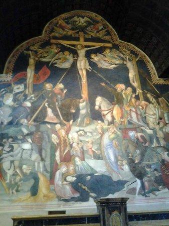 Oratorio di San Giovanni Battista : Lorenzo e Jacopo Salimbeni - Crocifissione