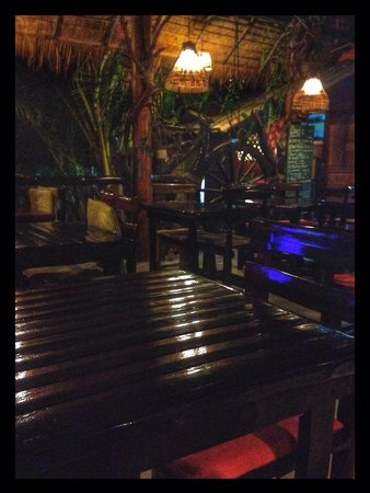 Rum Jungle: The restaurant at night