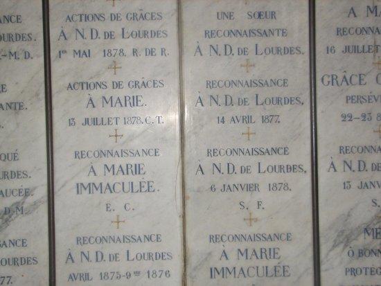 Sanctuaire Notre Dame de Lourdes : Miracles