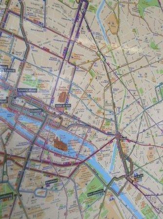 Metro Map Of The Bastille Accessoint Picture Of Port De LArsenal - Map of paris bastille