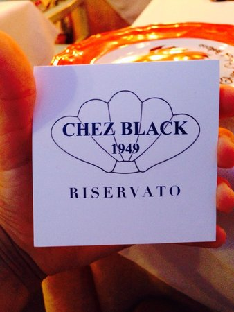 CHEZ BLACK: Reserved a table yesterday