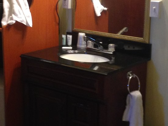 Hotel Wayne: The sink in the room