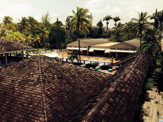 La Créole Beach Hôtel : Vue de la suite classic junior-résidence les palmes