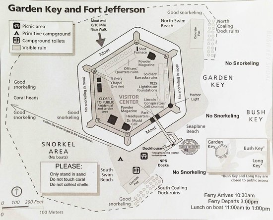 Key Garden Dry Tortugas Map Picture Of Dry Tortugas National Park Key West Tripadvisor