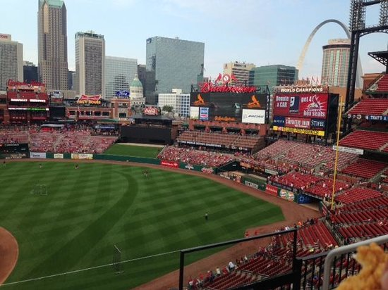 Busch Stadium: View from our seats/ arch