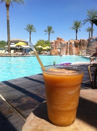 Marriott's Canyon Villas : Peach smoothie on a hot day is a must!