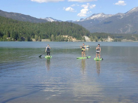 Whistler Eco Tours : Paddleboarding on Green Lake!