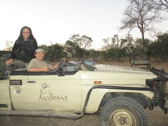 Arathusa Safari Lodge: The jeep to go on Game Drives.