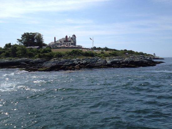 The Dining Room at Castle Hill Inn : Castle Hill from Newport Harbor aboard a Gansett Cruise