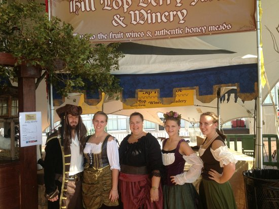 Hill Top Berry Farm & Winery: We dress up for some events!
