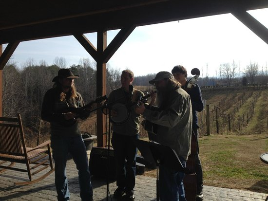 Hill Top Berry Farm & Winery: Customers show up with their own music sometimes