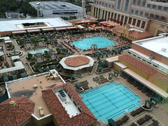 The Venetian Las Vegas: Udsigt til pool fra værelse