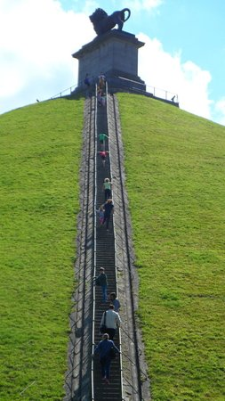 Waterloo Battlefield: 226 Stairs to the top!