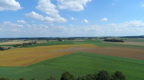 Waterloo Battlefield: View of the battlefields from the top