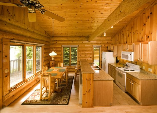 Log Cabin Kitchen and Dining Area - Picture of Lutsen Resort ...