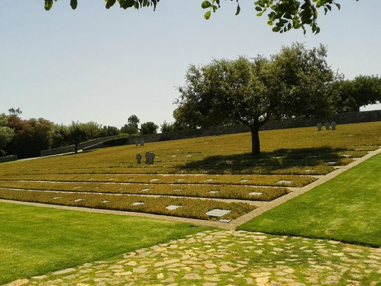 German War Cemetery: View of the lower terrace