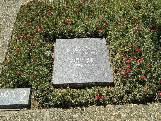 German War Cemetery: An example of the plaques