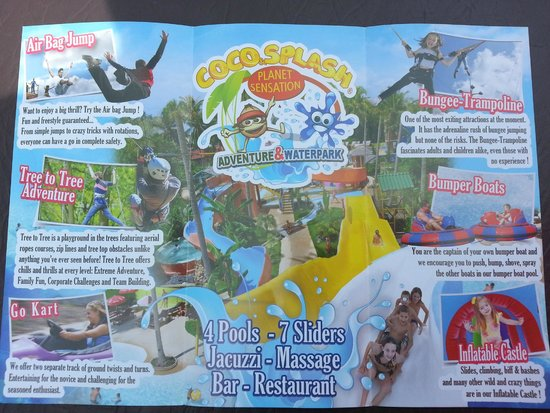 Coco Splash Adventure and Water Park: plan