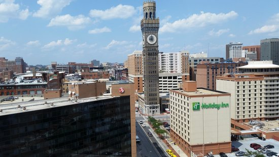 Hilton Baltimore : Beautiful view of Baltimore from our 14th floor room!