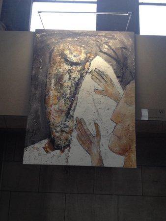 Notre Dame de la Treille: VI Estação: Verônica limpa o rosto de Jesus