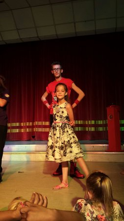 Cayton Bay Holiday Park - Park Resorts: Naomi on stage with Connor