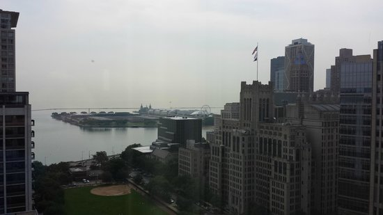 The Ritz-Carlton, Chicago: View from window towards Navy Pier (from 16th floor)