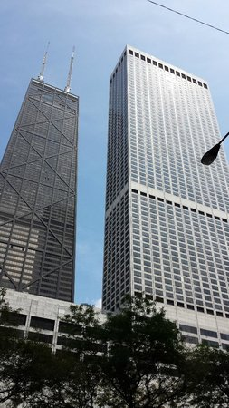 The Ritz-Carlton, Chicago: From outside (RC on the right, John Hancock bldg. on left)