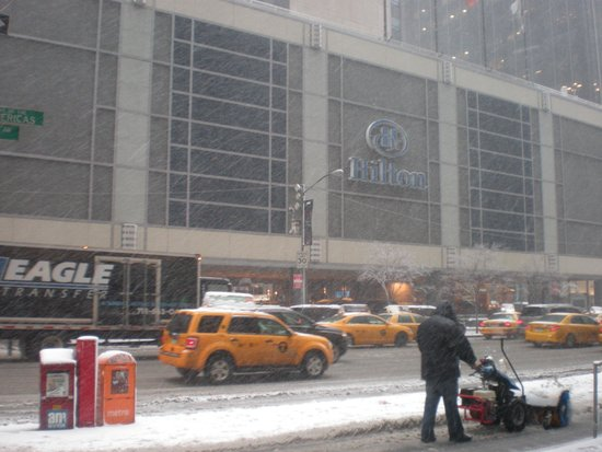 The Hilton Club - New York: Street view in January!