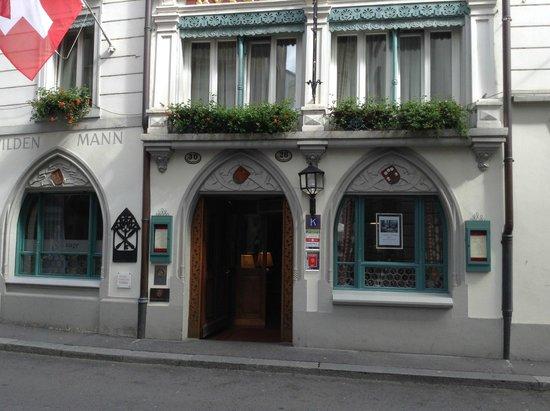 Hotel Wilden Mann: Front of Hotel.