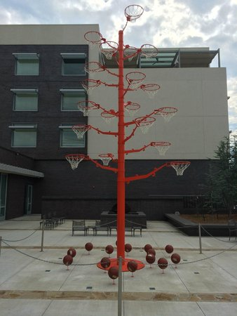 21c Museum Hotel Bentonville: Basketball tree in front of hotel