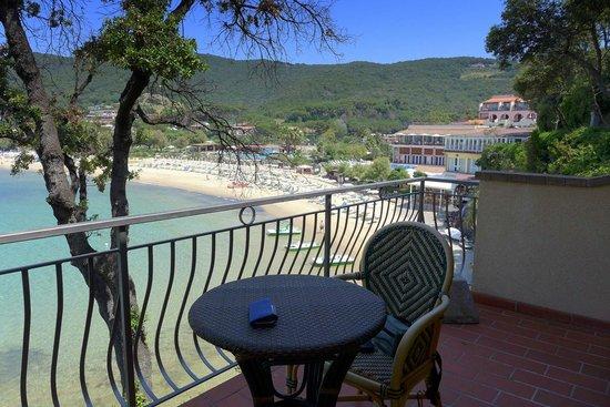 Hotel Hermitage -- Portoferraio: la terrazza della camera
