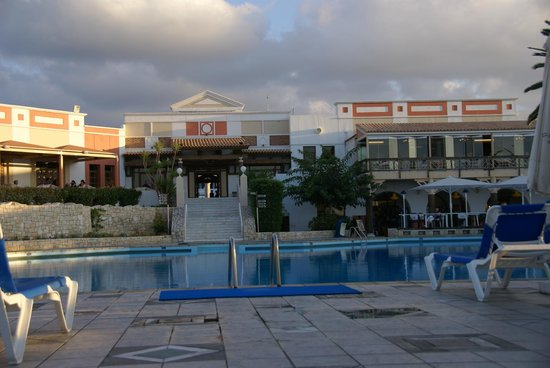 Aldemar Knossos Royal : The main building - dining hall is on the upper floor