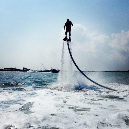 Port Aransas Beach: Fly Boarding is a MUST!!!