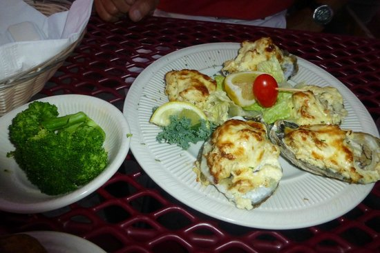 St. Michaels Crab & Steak House: Oysters Imperial with Crab Stuffing