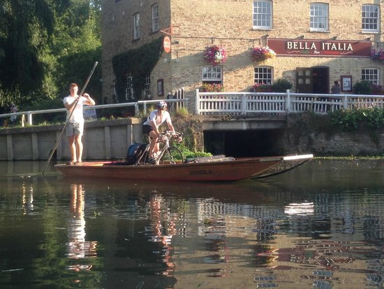 Granta Boat & Punt Company: Granta agree to my request to punt with my bike (see review of 2 Aug 14)