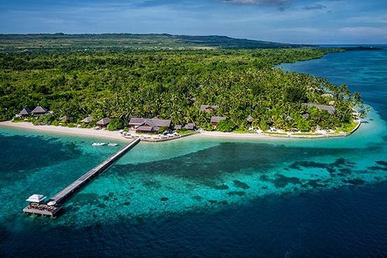 Wakatobi dive resort and surrounding house reef.