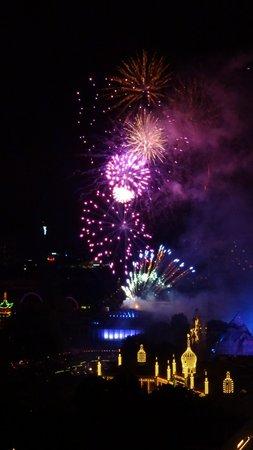 Radisson Blu Royal Hotel Copenhagen: Tivoli fireworks from room