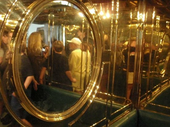 Eagle's Nest Historical Tours: The brass-lined elevator gave claustrophic Hitler a sense of more room.