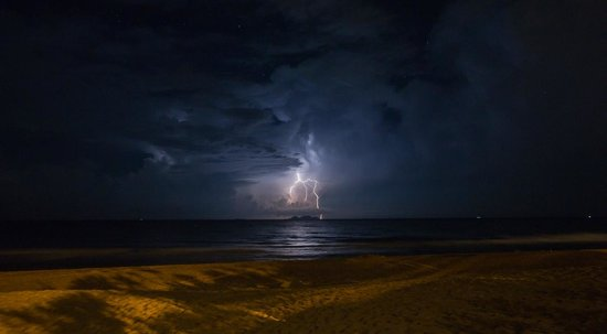 Tanjong Jara Resort: Electrical storm over Tenggol Island