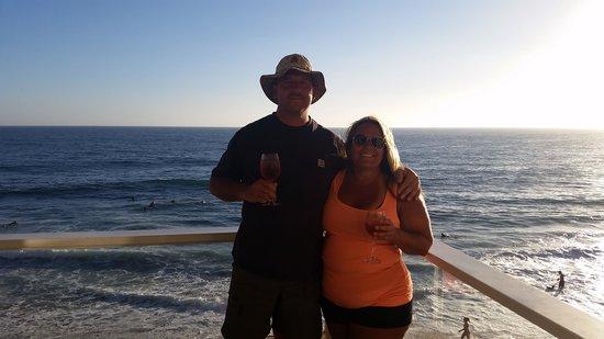 Pacific Edge Hotel on Laguna Beach : Me and my hubby!