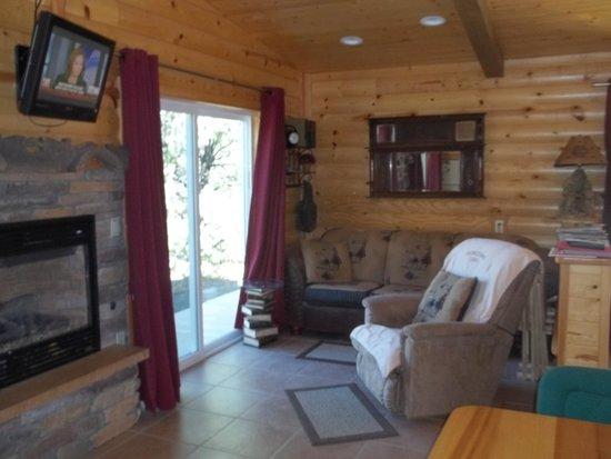Georgetown Cabins Resort: Livingroom area