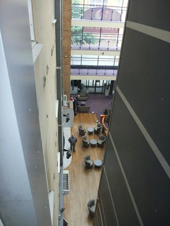 Premier Inn London Kings Cross Hotel: looking down into reception