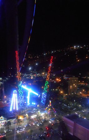 Myrtle Beach Skywheel Slingshot Ride Across The Street From