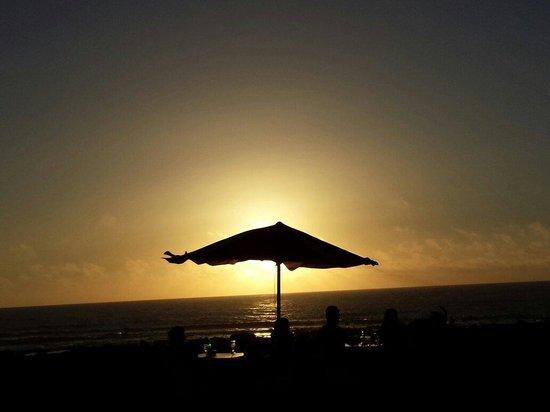 El Caletón: Vista del tramonto dal ristorante..