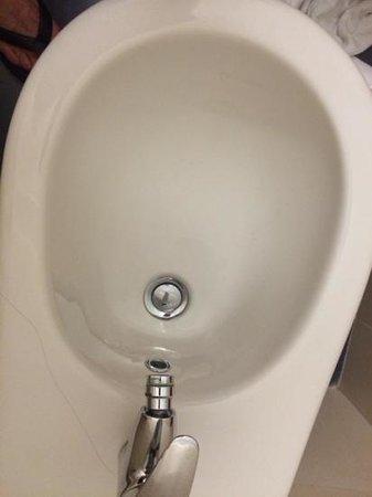 Hotel Restaurant Meeting : salle de bain mal nettoyé a notre arrivé. on voit bien qu'il reste des cheveux!