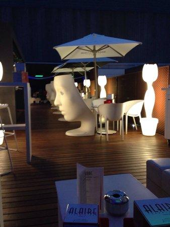 Hotel Espana: Terrace bar at night