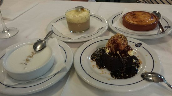 "Casa Juan Los Mellizos: Desert - big variety. ..from brownie to ""crema catalana"""